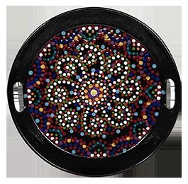 Crystal Lake Mosaic Mandala Tray