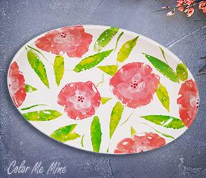 Crystal Lake Floral Paper Stamping