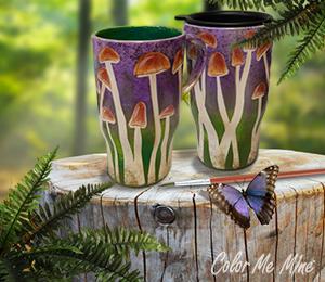 Crystal Lake Mushroom Mugs