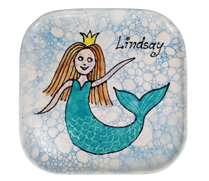 Crystal Lake Mermaid Plate