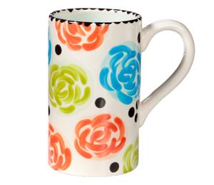 Crystal Lake Simple Floral Mug
