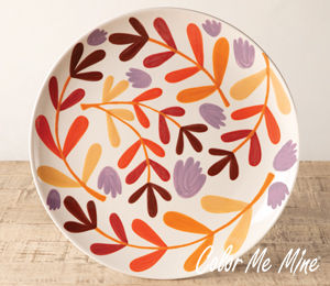 Crystal Lake Fall Floral Charger