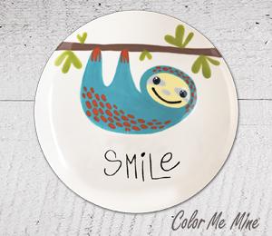Crystal Lake Sloth Smile Plate