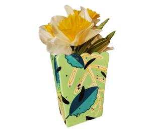 Crystal Lake Leafy Vase