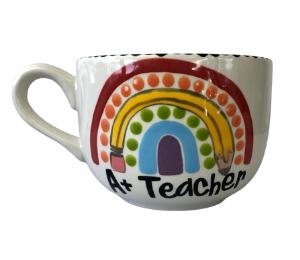 Crystal Lake Polka Dot Rainbow Mug